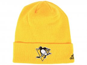 Zimní čepice Pittsburgh Penguins adidas NHL Basic Cuff Knit YELL
