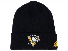 Zimní čepice Pittsburgh Penguins adidas NHL Basic Cuff Knit BLK