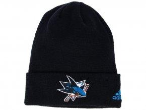 Zimní čepice San Jose Sharks adidas NHL Basic Cuff Knit