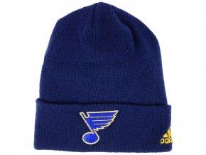 Zimní čepice St. Louis Blues adidas NHL Basic Cuff Knit BLUE