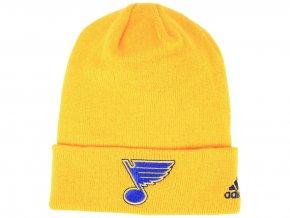 Zimní čepice St. Louis Blues adidas NHL Basic Cuff Knit YELL