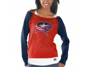 Set dámských triček Columbus Blue Jackets Holey Long Sleeve Top and Tank Top II Set