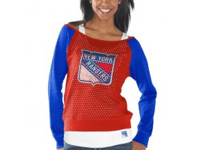 Set dámských triček New York Rangers Holey Long Sleeve Top and Tank Top II Set
