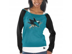 Set dámských triček San Jose Sharks Holey Long Sleeve Top and Tank Top II Set
