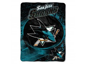 Deka San Jose Sharks Plush Micro Throw
