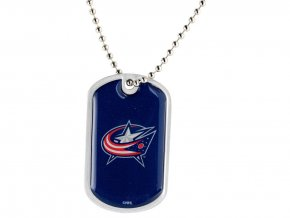 Přívěšek Columbus Blue Jackets Dog Tag