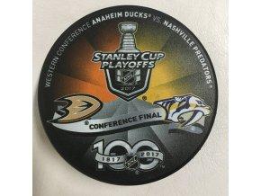 Puk Anaheim Ducks vs. Nashville Predators Stanley Cup Playoffs 2017 Conference Final Dueling