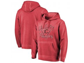 Mikina Calgary Flames Shadow Washed Retro Arch Pullover Hoodie