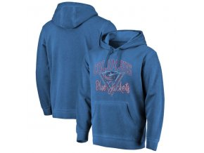 Mikina Columbus Blue Jackets Shadow Washed Retro Arch Pullover Hoodie
