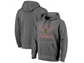 Mikina Chicago Blackhawks Shadow Washed Retro Arch Pullover Hoodie