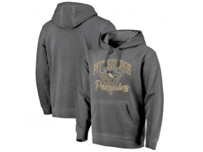 Mikina Pittsburgh Penguins Shadow Washed Retro Arch Pullover Hoodie