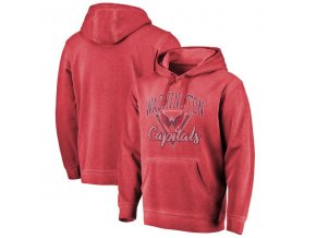 Mikina Washington Capitals Shadow Washed Retro Arch Pullover Hoodie