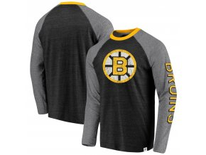 Tričko Boston Bruins True Classics Tri-Blend Raglan