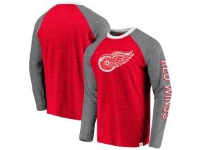 Tričko Detroit Red Wings True Classics Tri-Blend Raglan