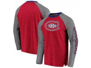 Tričko Montreal Canadiens True Classics Tri-Blend Raglan