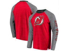 Tričko New Jersey Devils True Classics Tri-Blend Raglan