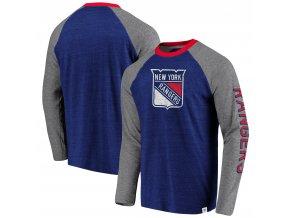 Tričko New York Rangers True Classics Tri-Blend Raglan