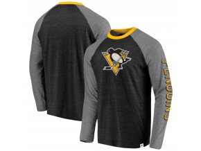 Tričko Pittsburgh Penguins True Classics Tri-Blend Raglan