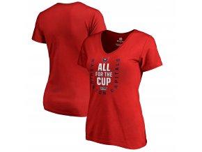 Dámské tričko Washington Capitals 2018 Stanley Cup Playoffs Bound Behind The Net