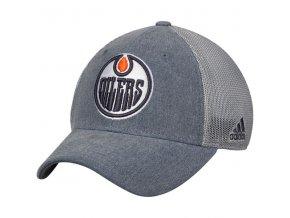 Kšiltovka Edmonton Oilers Adidas Sun Bleached Meshback Flex