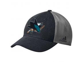 Kšiltovka San Jose Sharks Adidas Sun Bleached Meshback Flex