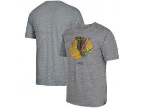 Tričko Chicago Blackhawks Heritage Logo Series Tri-Blend