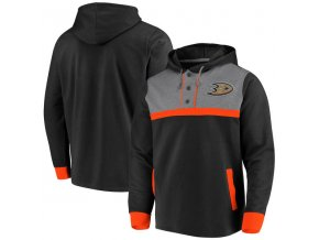 Mikina Anaheim Ducks True Classics 3-Button Pullover Hoodie