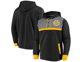Mikina Boston Bruins True Classics 3-Button Pullover Hoodie