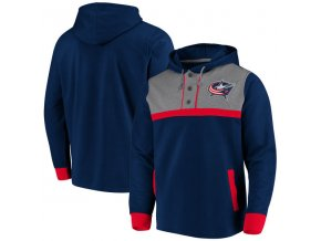 Mikina Columbus Blue Jackets True Classics 3-Button Pullover Hoodie
