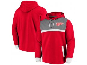 Mikina Detroit Red Wings True Classics 3-Button Pullover Hoodie