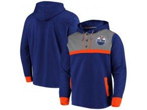 Mikina Edmonton Oilers True Classics 3-Button Pullover Hoodie