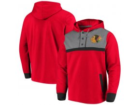 Mikina Chicago Blackhawks True Classics 3-Button Pullover Hoodie