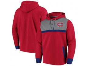 Mikina Montreal Canadiens True Classics 3-Button Pullover Hoodie