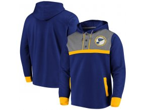 Mikina St. Louis Blues True Classics 3-Button Pullover Hoodie