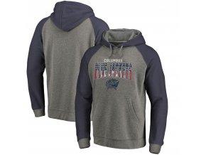 Mikina Columbus Blue Jackets Freedom Tri-Blend Raglan Pullover Hoodie