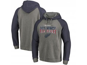 Mikina Detroit Red Wings Freedom Tri-Blend Raglan Pullover Hoodie