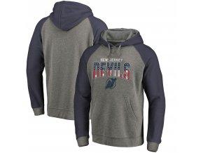 Mikina New Jersey Devils Freedom Tri-Blend Raglan Pullover Hoodie