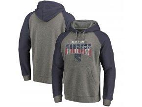 Mikina New York Rangers Freedom Tri-Blend Raglan Pullover Hoodie