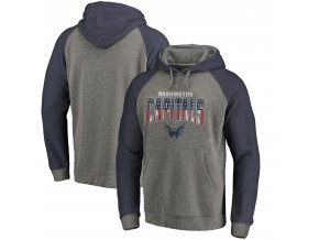 Mikina Washington Capitals Freedom Tri-Blend Raglan Pullover Hoodie
