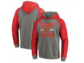 Mikina Calgary Flames Timeless Collection Antique Stack Tri-Blend Raglan