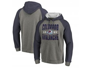 Mikina Colorado Avalanche Timeless Collection Antique Stack Tri-Blend Raglan