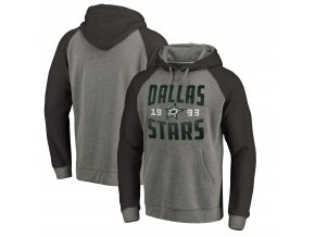 Mikina Dallas Stars Timeless Collection Antique Stack Tri-Blend Raglan