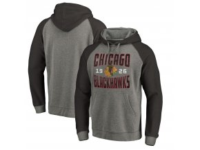 Mikina Chicago Blackhawks Timeless Collection Antique Stack Tri-Blend Raglan