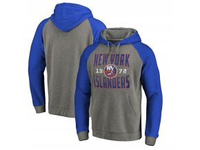 Mikina New York Islanders Timeless Collection Antique Stack Tri-Blend Raglan