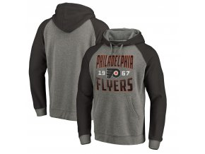 Mikina Philadelphia Flyers Timeless Collection Antique Stack Tri-Blend Raglan