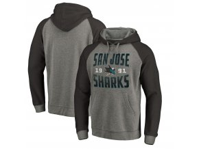 Mikina San Jose Sharks Timeless Collection Antique Stack Tri-Blend Raglan