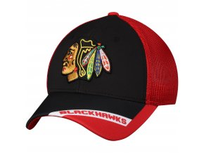 Kšiltovka Chicago Blackhawks adidas Sublimated Visor Meshback Flex