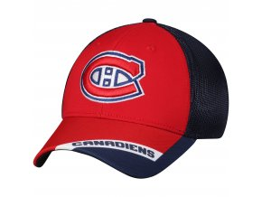 Kšiltovka Montreal Canadiens adidas Sublimated Visor Meshback Flex