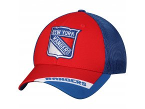 Kšiltovka New York Rangers adidas Sublimated Visor Meshback Flex