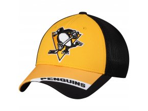 Kšiltovka Pittsburgh Penguins adidas Sublimated Visor Meshback Flex